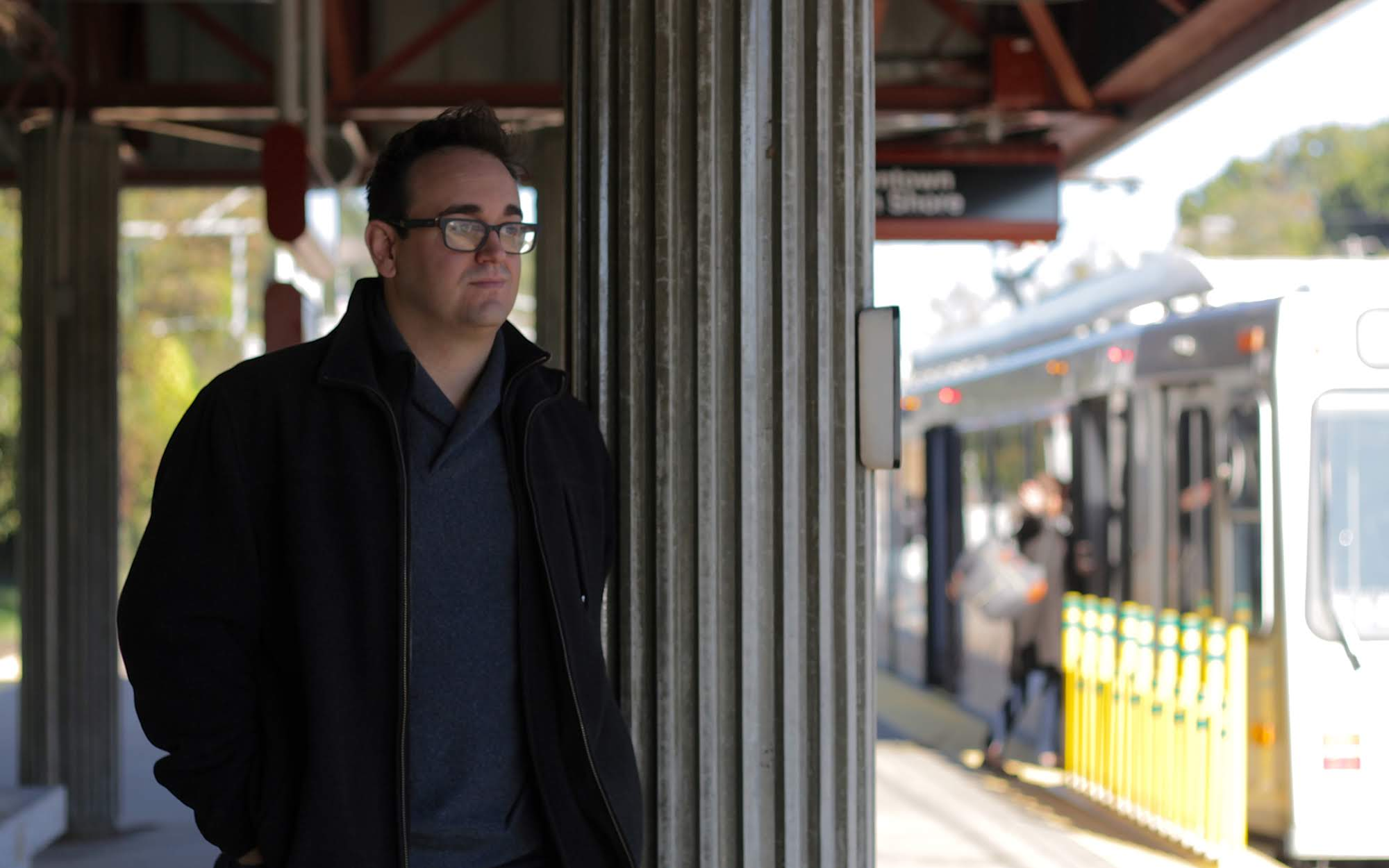 Mark Heckmann, Castle Shannon council president, at the Castle Shannon T station