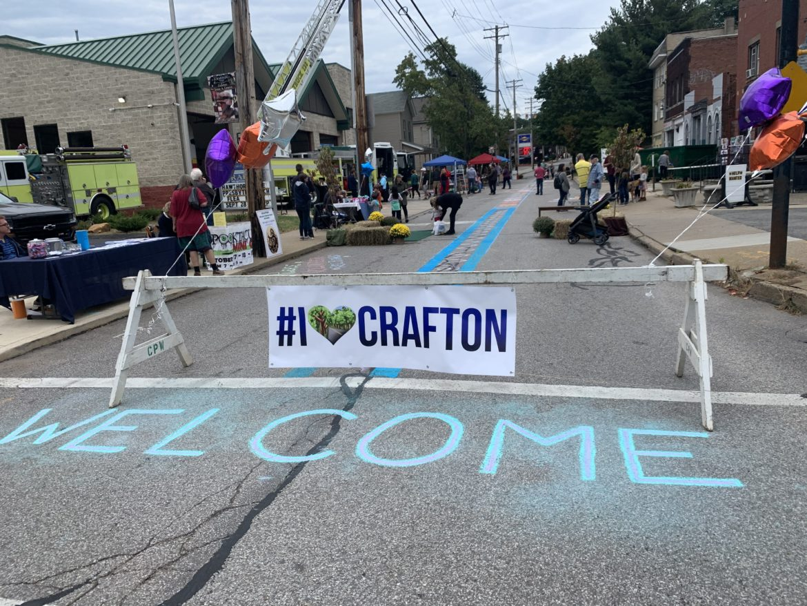Crafton hosted a pop-up block party Oct. 6 focused on the borough's vision for a pedestrian-friendly community.