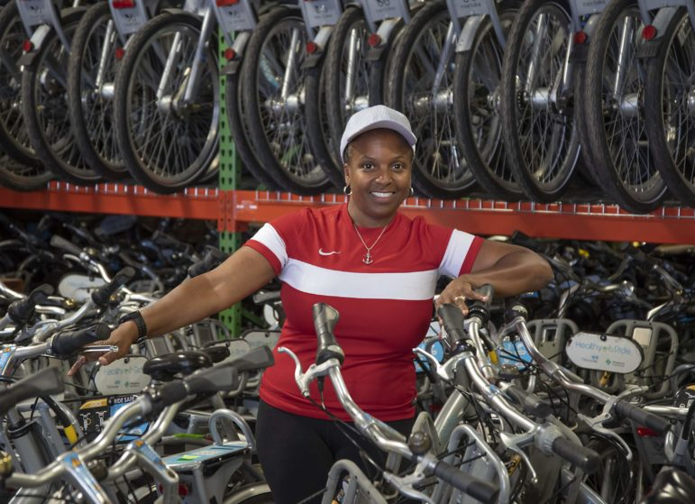 LaVette Wagner, a Healthy Ride ambassador. (Photo by Teake Zuidema/Publicsource)