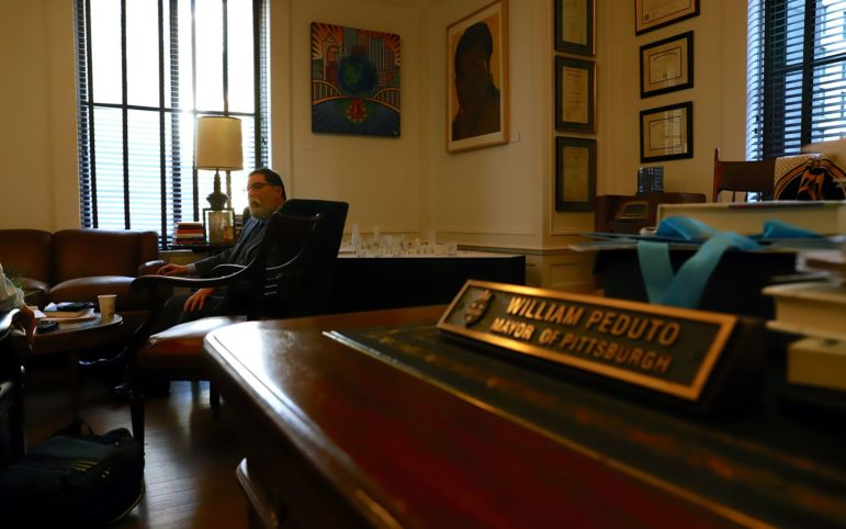 Mayor Peduto took time on Wednesday to talk about how to move forward politically after being criticized by some for coming out against further petrochemical developments in Western Pennsylvania. (Photo by Jay Manning/PublicSource)