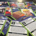 Shell provided residents with trading cards to highlight the jobs and required qualifications for its cracker plant in Beaver County. (Photo by Oliver Morrison/PublicSource)