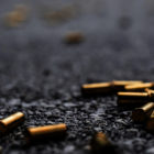 Bullet casings on the street