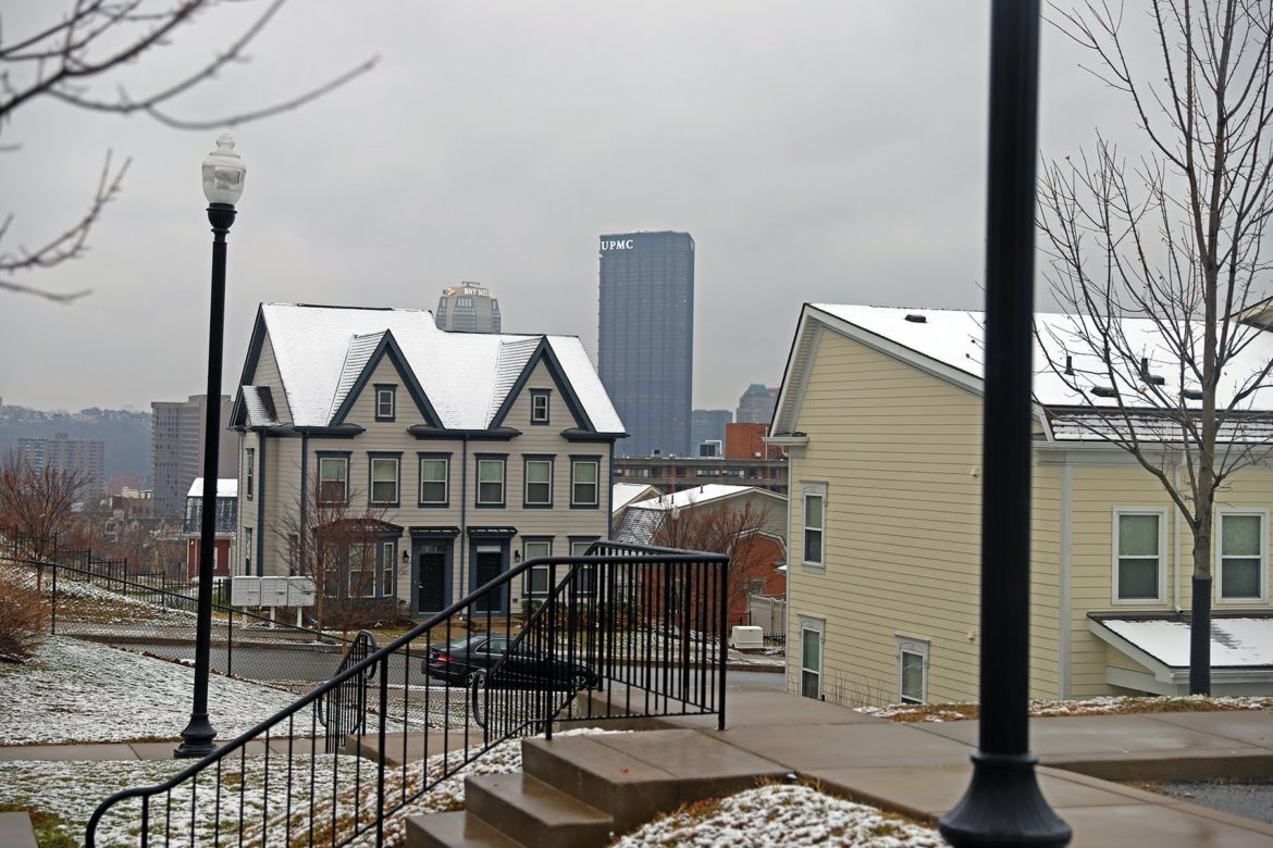 Skyline Terrace, a mixed-income housing complex, developed by the Housing Authority for the City of Pittsburgh. (Photo by Jay Manning/PublicSource)