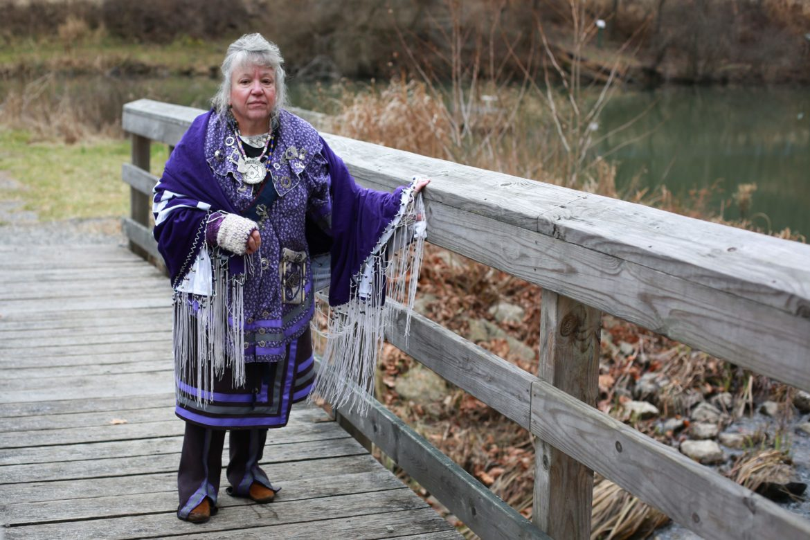 Lenora Dingus poses outside of the Latodami Nature Center in North Park on Dec. 15, 2019. (Photo by Hali Tauxe/PublicSource)