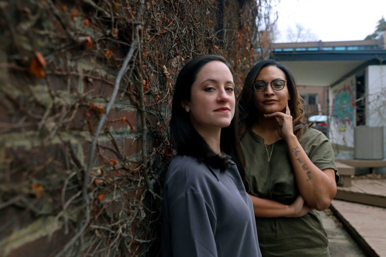 Sydney Olberg (left) and Liana Maneese, founders of The Good Peoples Group + Center on Interracial Relationships. (Photo by Jay Manning/PublicSource)