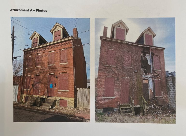 Two of the Manchester buildings slated for renovation in a $2.7 million project, for which the Urban Redevelopment Authority board approved $1.8 million in loans and grants on March 19, 2020. The photos were submitted by the URA to the Housing Opportunity Fund Advisory Board on March 5.