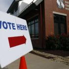 A polling place in East Liberty for the May 21, 2019 primary election. (Photo by Ryan Loew/PublicSource)