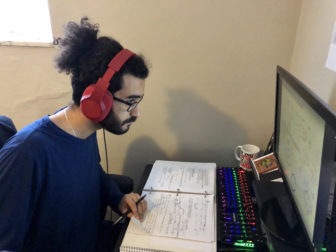 Yousef Mohammad, a Carlow University junior majoring in biology, is an Oakland Plan Steering Committee member. He likes some aspects of remote learning but hopes to go back to the classroom for most of his senior year. (Photo by Yousef Mohammad)
