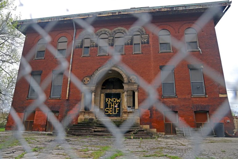 The Larimer School, closed for 30 years, is to be reborn under a Choice Neighborhoods Initiative grant. (Photo by Jay Manning/PublicSource)
