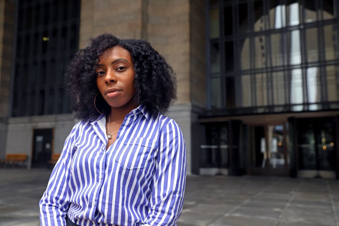 Lindsay Powell, a member of the Urban Redevelopment Authority board and key city hall staffer, is the lone twentysomething serving on the 16 local boards focused on development. (Photo by Jay Manning/PublicSource0