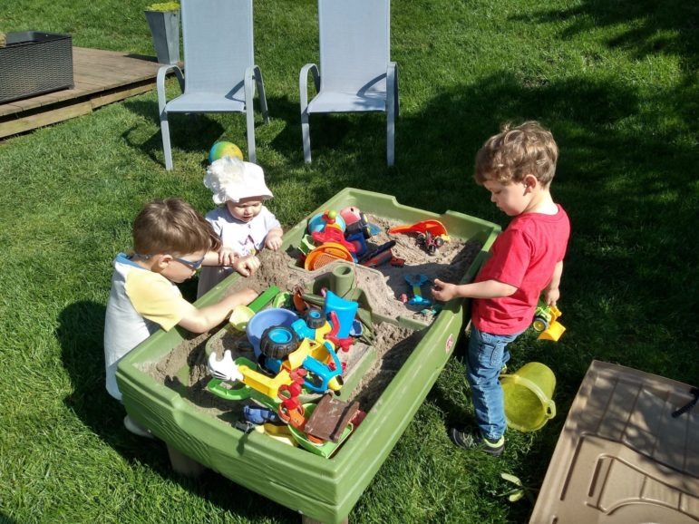 Chris Murphy's three children play in their yard. (Photo courtesy of Chris Murphy)