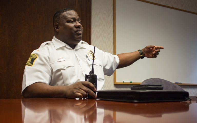 Pittsburgh Public Schools Chief of Safety George Brown Jr. (Photo by John Hamilton)