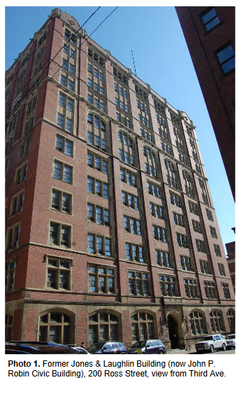 The John P. Robin Civic Building, in a photo submitted by Preservation Pittsburgh to the City Planning Commission for its July 28, 2020 meeting.