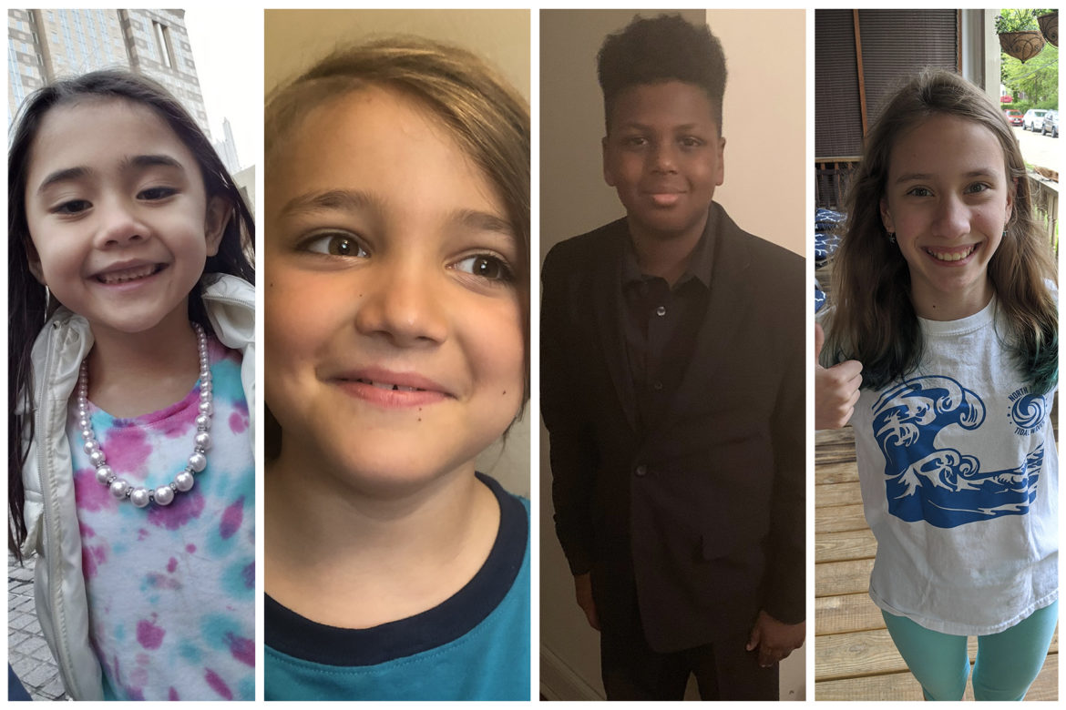 From left to right: Students Katie Marie, Davey, Eli and Emma. (Courtesy photos)