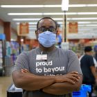 Joseph Vernon Smith at his job bagging groceries at Giant Eagle in Crafton. (Photo by Jay Manning/PublicSource)
