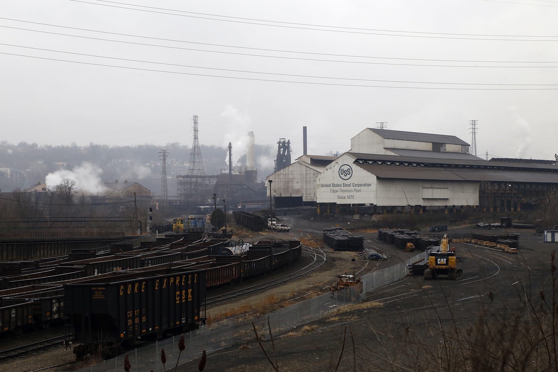 The Edgar Thomson Steel Works, photographed in January 2020. (Photo by Ryan Loew/PublicSource)