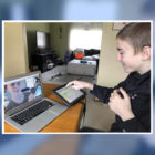 Roman Salamon participating in a virtual speech therapy session. (Courtesy photo)