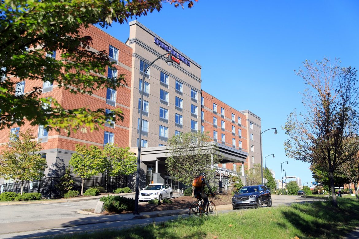 SpringHill Suites on the Southside was one of the most energy efficient hotels in the city according to new data released. (Photo by Jay Manning/PublicSource)