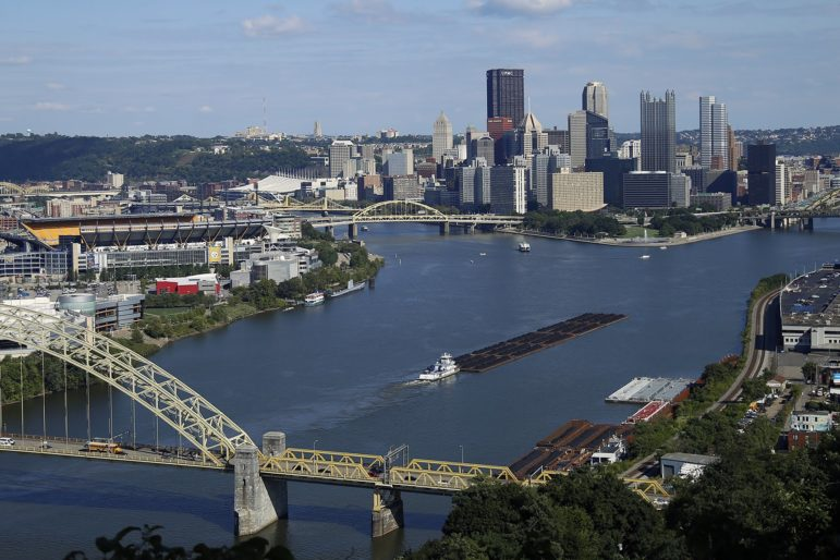 image of pittsburgh skyline and rivers