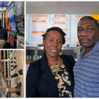 Top left: Jason Lott, co-owner of Ink Division. Bottom left: Cheryl Stasinosky of Mary's Vine. Right: Kamahlai and Maurice Stuart, owners of House of Soul Catering. (Photos by Jay Manning/PublicSource)
