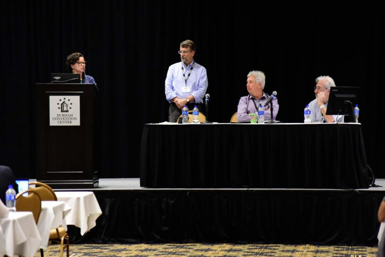 Carla Ng was the only scientist invited to give two presentations at a PFAS conference put on by the Society of Environmental Toxicology and Chemistry in Durham, North Carolina in August of 2019. (Courtesy photo by Steven McCaw)