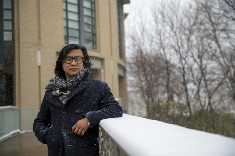Niles Xunan Guo, a Ph.D. student at Carnegie Mellon University, initially said he felt insulated and supported as an international student in Pittsburgh, but the sentiment began to shift after the 2016 election and anti-immigrant rhetoric kicked up. (Photo by Jay Manning/PublicSource)