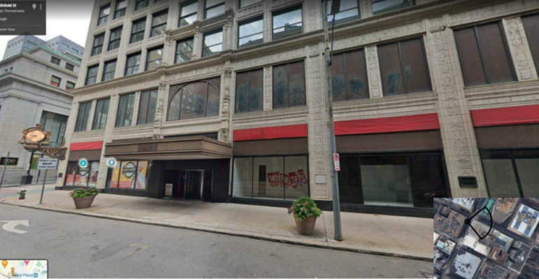 A view of the existing windows on the Smithfield Street side of the former Kaufmann's department store building, submitted to the City Planning Commission on Jan. 12, 2021.