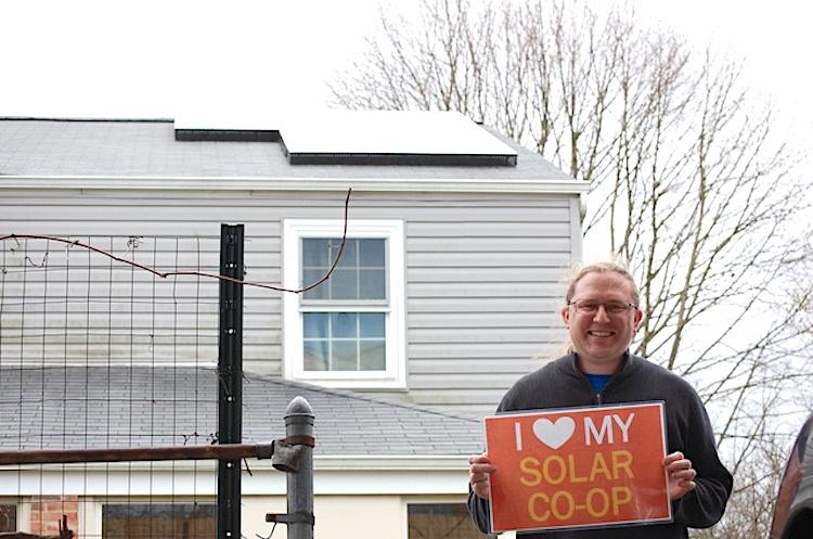Homeowner Erik Fogt. (Photo courtesy of Solar United Neighbors.)