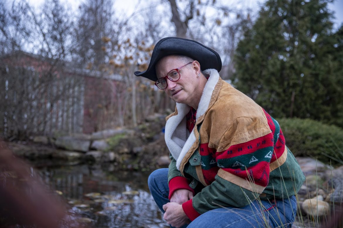 Marc Wagner outside of his home in Swissvale, PA. (photo by Jay Manning/PublicSource)
