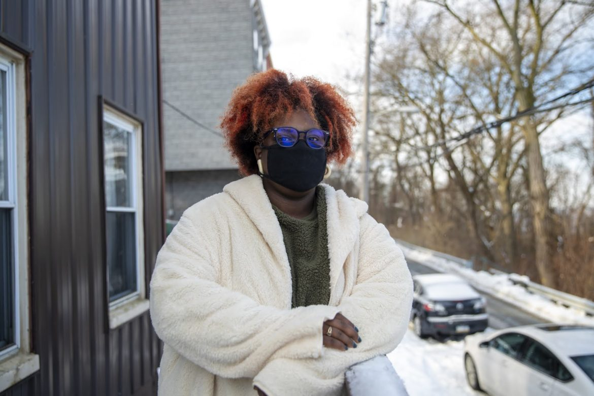 Daeja Baker outside of her home in Polish Hill. (Photo by Jay Manning/PublicSource)