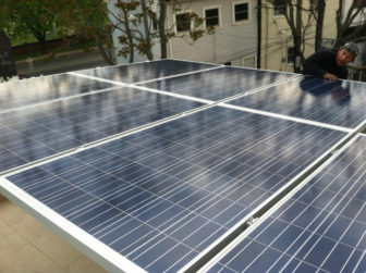 Solar co-op installation in Allegheny County. (Photo courtesy of Solar United Neighbors)