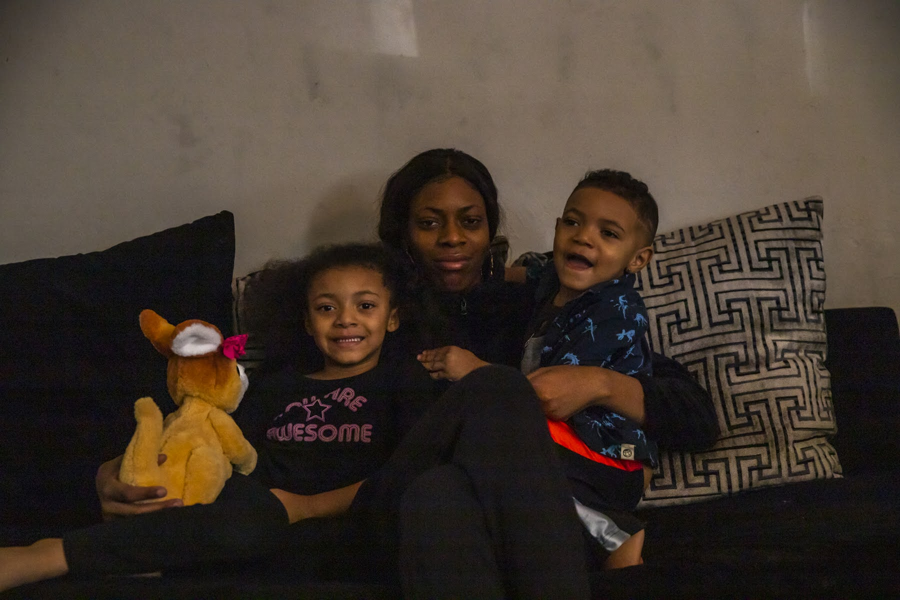 Shanese Nelson and her two children