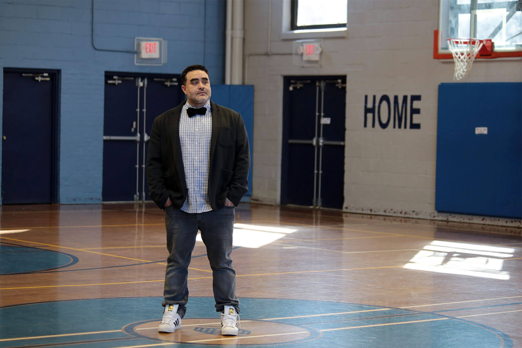 Juan Perez is senior director of program excellence at Boys & Girls Clubs of Western Pennsylvania's Carnegie clubhouse. (Photo by Ryan Loew/PublicSource)