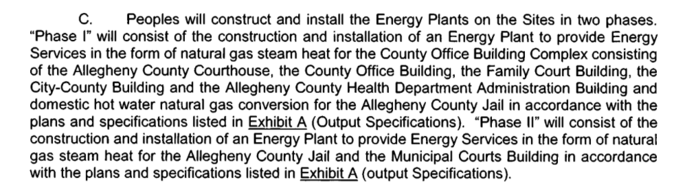 A screenshot of a paragraph from a building contract, written in black text on white background.