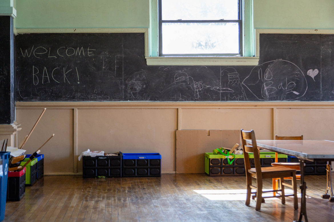 A classroom at the Three Rivers Village School in Hazelwood. (Photo by Nick Childers/PublicSource)