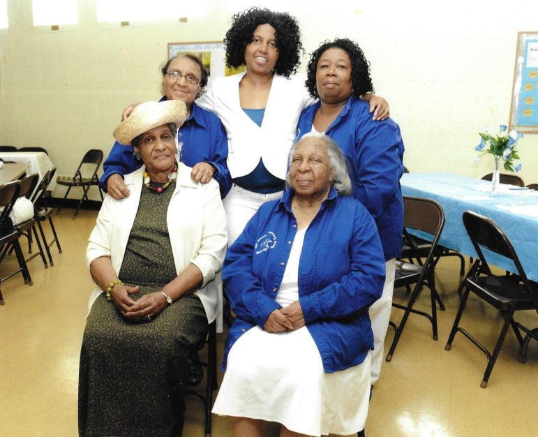 Seated left to right: Fannie Green Hawkes (a cousin), Betty Lee Moore. Standing: Mary Burleigh, Martha Moore and Linda Burleigh. (Photo courtesy of Martha Moore and Linda Burleigh)