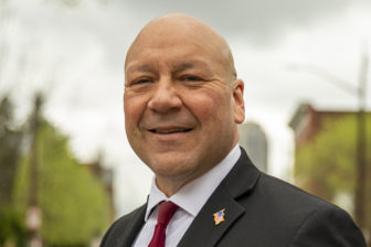 Tony Moreno, a candidate in the 2021 Democratic mayoral primary for Pittsburgh, is a retired city police officer. (Photo by Jay Manning/PublicSource)