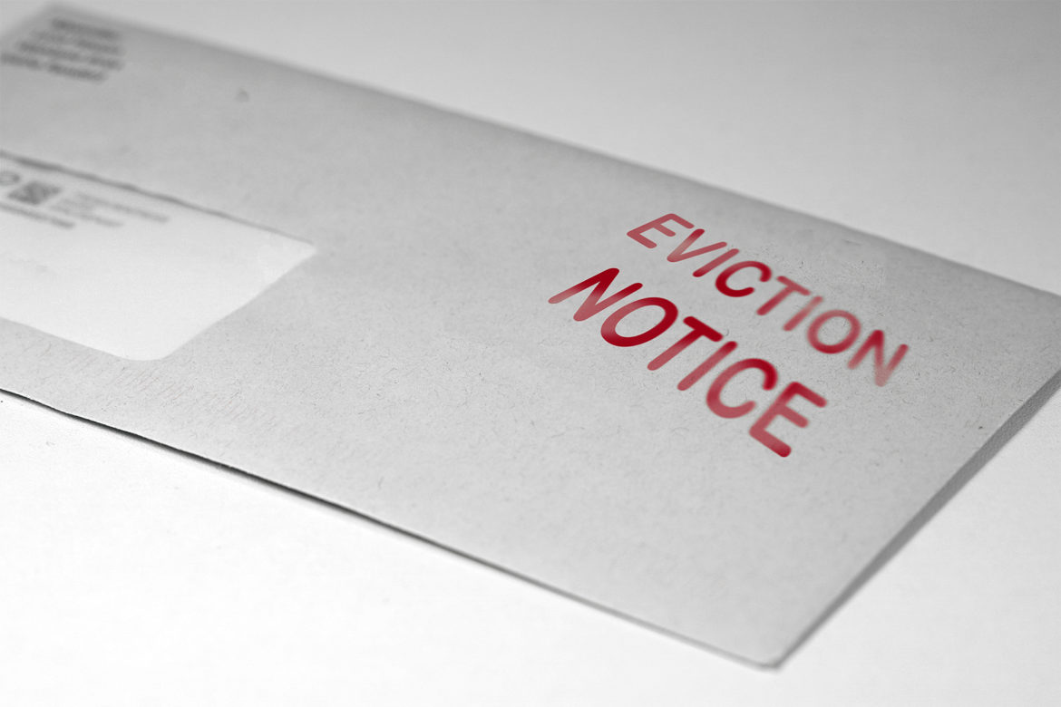 picture of an envelope that says eviction notice