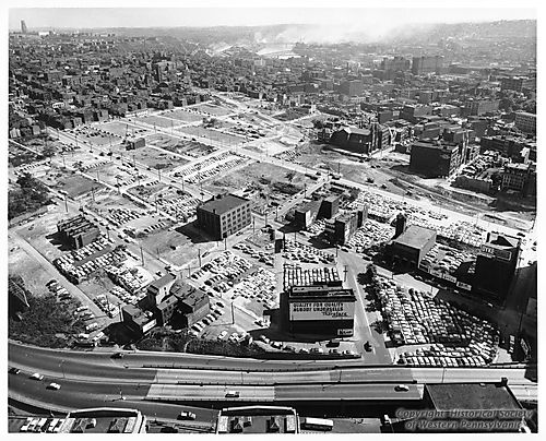 View of the Lower Hill District with most of the demolition complete