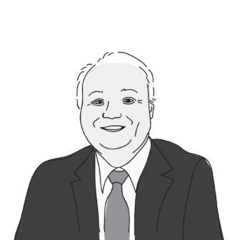 illustrated portrait of Bob Macey