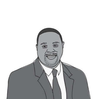 Ed Gainey black and white illustration
