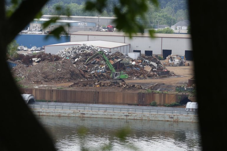 Metalico, a metal recycling facility on Neville Island. (Photo by Ryan Loew/PublicSource)