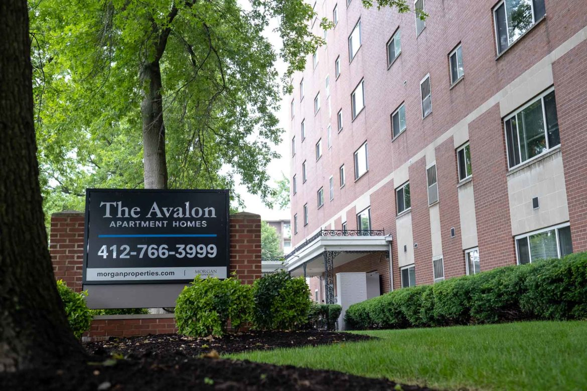 The Avalon Apartment Homes in Avalon, where one tenant's rent nearly doubled to $1,783 last year. (Photo by Quinn Glabicki/PublicSource)
