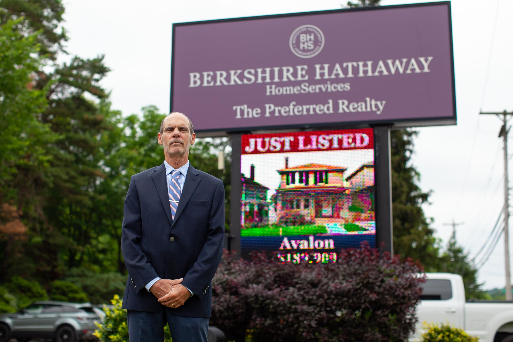 Berkshire Hathaway property manager Denis Tague photographed at the Berkshire Hathaway office in McCandless on June 11, 2021. (Photo by Quinn Glabicki/PublicSource)