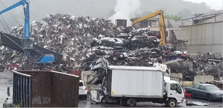 A photo taken at Metalico on May 24, 2021, two days after a second fire at the facility. (Image provided by the Allegheny County Health Department in a records request response to PublicSource.)
