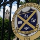"""""""Soli Deo Gloria"""" (""""To God alone be the glory"""") reads the emblem on the gates of Pittsburgh Theological Seminary."""