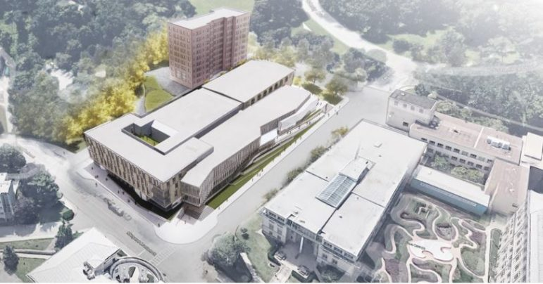 Carnegie Mellon University wants to convert Skibo Hall into a new health, wellness and athletics building, depicted here in a rendering presented to the City Planning Commission on July 13, 2021.