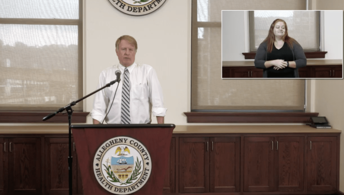 Allegheny County Executive Rich Fitzgerald during an Aug. 4 press briefing on COVID-19