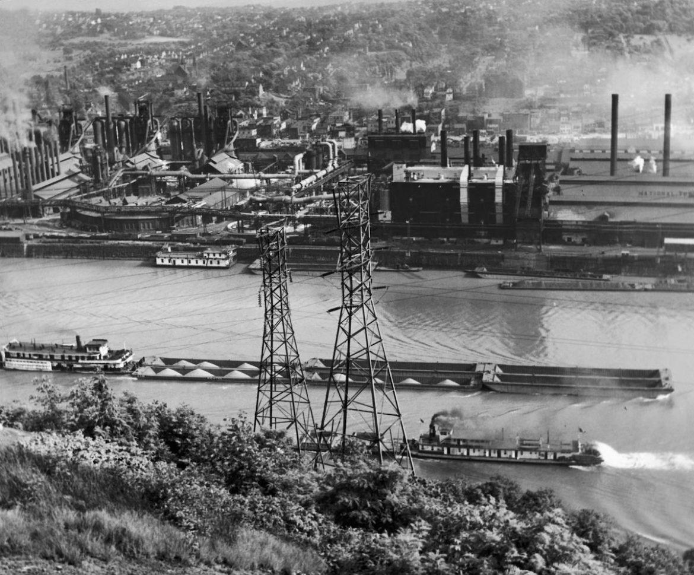 Photo of a Steel Plant in McKeesport, Pennsylvania, 1957.