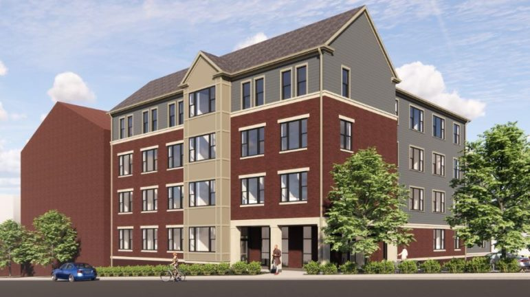 A preliminary rendering of a proposed 24-to-26-unit apartment building planned for Brighton Road in California-Kirkbride as part of Northside Properties Residences' affordable housing development.